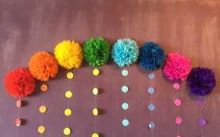 Цветы шары из гофрированной бумаги
