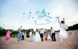 Запуск шариков на свадьбе