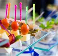 Организация стола на день рождения