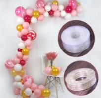 Гирлянда из шаров двухцветная